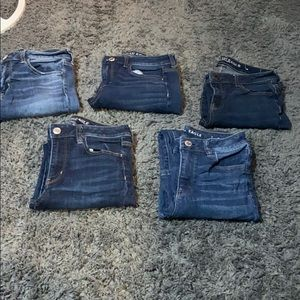 5 pairs of American eagle skinny jeans!!